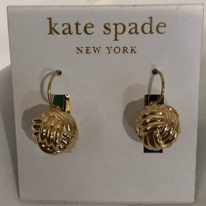 Kate Spade earwire knot earrings